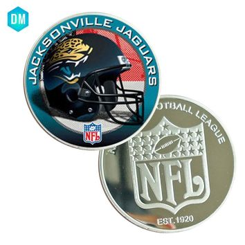 JACKSONVILLE JAGUARS Gift Coin Collectible 999.9 Silver Plated US NFL Team Famous Sport Coin Metal Crafts