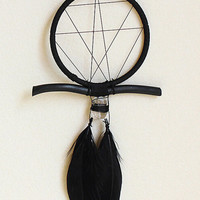 Black Geometric Dreamcatcher With Crystal