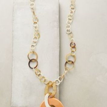 Horn Link Necklace by Anthropologie in Neutral Motif Size: One Size Necklaces