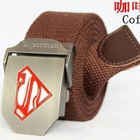 Superman men's and women's thickening Canvas Belt leisure tactical belt YAODAI009 = 1945859076