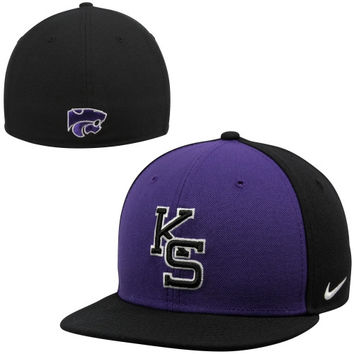 Nike Kansas State Wildcats True Colors Authentic Performance Fitted Hat - Purple/Black