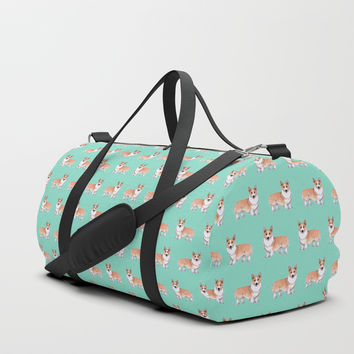 Pembroke Welsh Corgi dog Duffle Bag by Savousepate