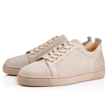 Christian Louboutin Cl Louis Junior Men's Flat Colombe Suede 13s Sneakers - Best Deal Online