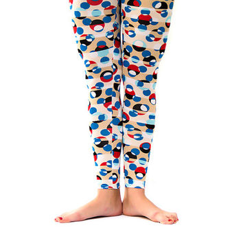 Joyful dots  Women Leggings,  summer women leggings