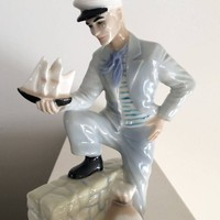 "Vintage Royal Doulton Porcelain ""Travelers Tale"" HN3185 Reflections Series, Procelain Collectible, Sailor, Sea Captain"