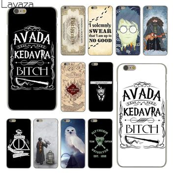Lavaza always Harry Potter Deathly Hallows Hard Clear Skin Cover Case for Apple iPhone 6 6S 6 S Back Phone Case Coque Shell