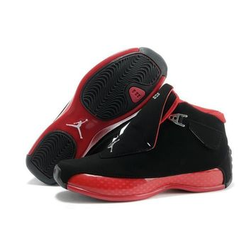 Jordan Air Retro 18 Men Basketball shoes red Black white blue XVIII Breathable Jogging Athletic Outdoor Sport Sneakers 41-46