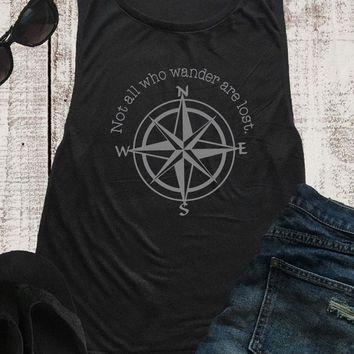 Not All Who Wander Are Lost, Tank Top