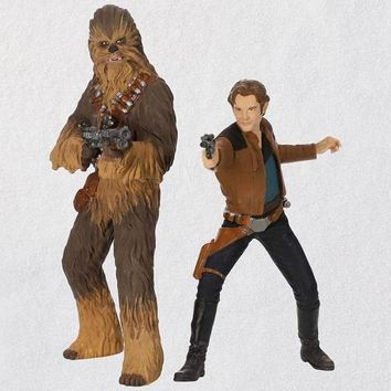 Solo: A Star Wars Story™ Han Solo™ and Chewbacca™ Ornaments, Set of 2