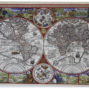 Wall Map of Wonder Stretched Wall Tapestry