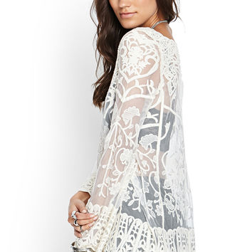 Sheer Embroidered Tunic