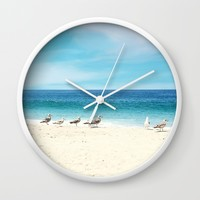 wave watching Wall Clock by sylviacookphotography