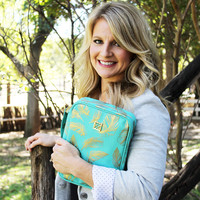 Bible Case Farrah Feathers Teal