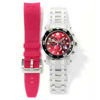 Invicta 10577 Men`s Pro Diver Scuba Red Dial Interchangeable Bracelet Chronograph Dive Watch