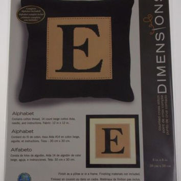 Dimensions Counted Cross Stitch Alphabet Letter Pillow Frame Kit 8x8 70-35276