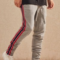 PacSun Drop Skinny Side Stripe Track Pants at PacSun.com - gray | PacSun