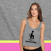 Downloading - funny ladies' flowy tanktop