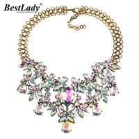 *online exclusive* jeweled crystal statement necklace
