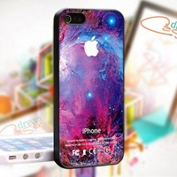 Comodos Galaxy Nebula Apple Logo - Photo On Hard Cover For iPhone 5