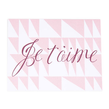 Je T'aime Triangles Card