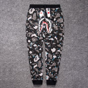 spbest A Bathing Ape x SPACE CAMO SHARK Sweat Pants