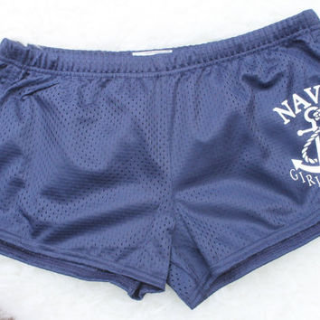 Navy girlfriend shorts!