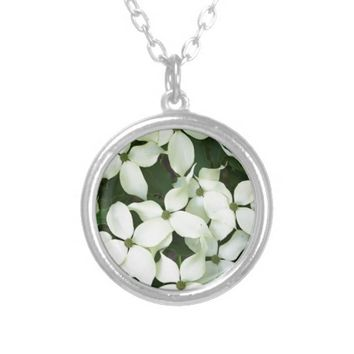 White Flowering Dogwood Personalized Necklace