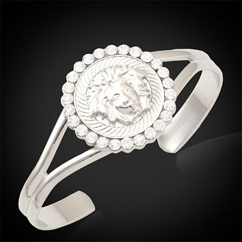 Versace Women Fashion Diamonds Medusa Bracelet Jewelry