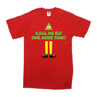 Funny Holiday T Shirt Buddy The Elf Clothing Christmas Present Xmas Outfit Christmas Movie Quote TShirt Call Me Elf Mens Ladies Tee -SA703