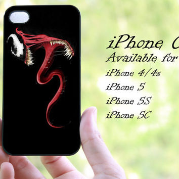 venom on spiderman design iphone case for iphone 4 case, iphone 4s case, iphone 5 case, iphone 5s case, iphone 5c case