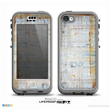 The Painted Grunge Rusted Panel Skin for the iPhone 5c nüüd LifeProof Case