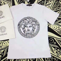 """ VERSACE""Fashion Monogram Print Casual Short Sleeve Shirt Top Tee Blouse G-A-GHSY-1"