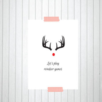 PRINTABLE Quote Art // christmas art, christmas print, christmas decor, holiday quote, christmas quote, reindeer print, christmas printable