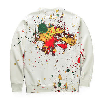 Autumn Winter Thin Style Men/women Digital Print Cartoon Frog Casual Hoodies Long Sleeve Pullovers 3