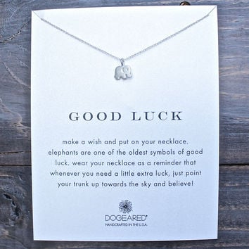 dogeared good luck elephant necklace sterling silver - 16 Inches