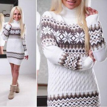 Pullover Snowflake Sweater
