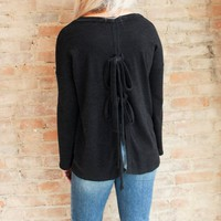 Becca Bow Back Top - black