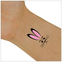 Temporary Tattoo 2 Easter Bunny Wrist Tattoos Body Art