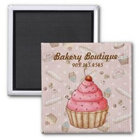 Bakery Boutique Patisserie Magnets from Zazzle.com