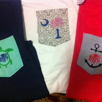 Monogramed Pocket T-Shirts