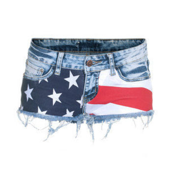 Shorts - LPFP - Stars and Stripes Blue bei jades24