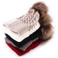 1PC New 2017 Winter Warmer Baby Knitted Wool Hat Kids Warm Cap Girls Boys Knitted Hats Wool Fur Ball Caps