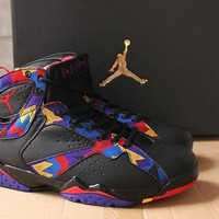 Air Jordan 7 Retro Aj7 Black Colorful Basketball Shoe Us7 12 | Best Deal Online