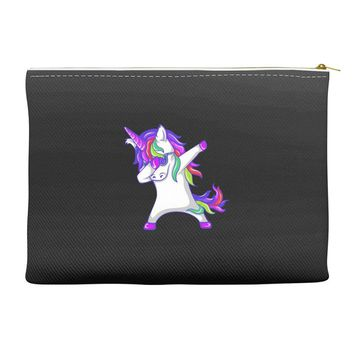 dabbing unicorn Accessory Pouches