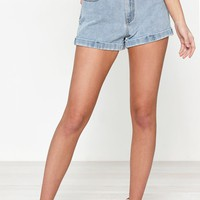 PacSun Amber Blue Mom Shorts at PacSun.com