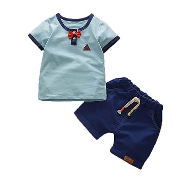 Boys Summer Clothing Set Children Tops T-shirt Shorts Clothes Suit Kids Boys Fashion Sport Suit for Baby Boys Clothing