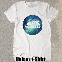 Arctic Monkeys Shirt The Arctic Monkeys Blue Circle Symbol Printed White t- Shirt For Men Or Women Size TS 40