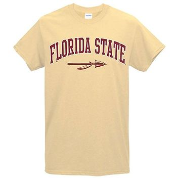 Value Priced Short Sleeve t-shirt with Florida State Spear Vegas Gold
