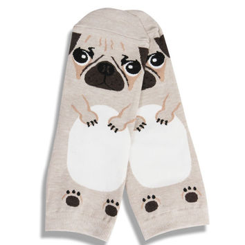 3 Pairs of Cute Pug Dogs Stereoscopic Cotton Socks Cartoon Dog