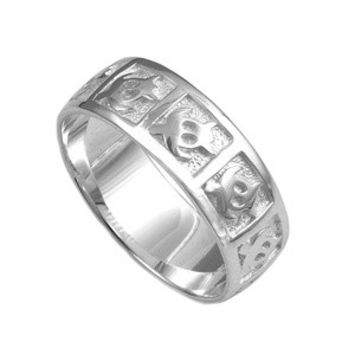 925 Sterling Silver Sea Turtle Eternity Band 8MM Ring